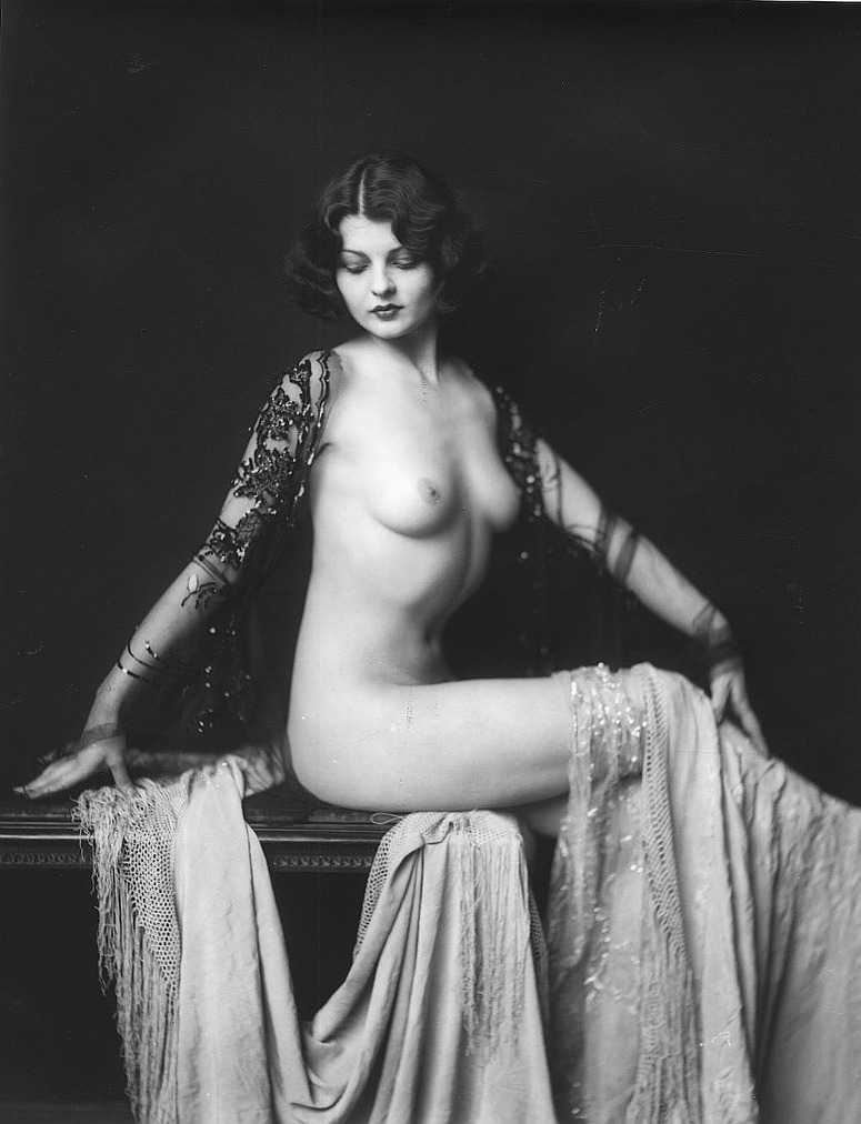 Lilian Bond, in her birthday suit, on this, her day of birth.jpg